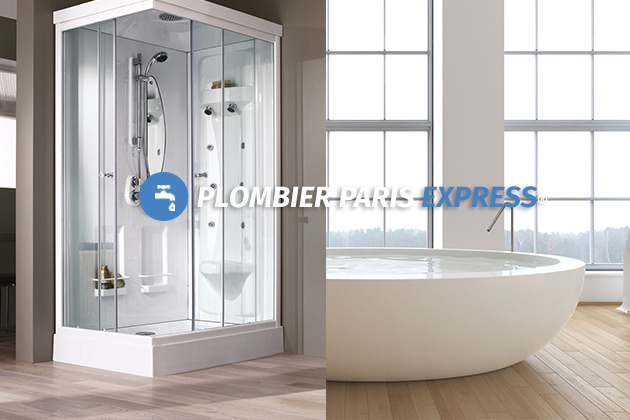 douche ou baignoire plombier paris express. Black Bedroom Furniture Sets. Home Design Ideas