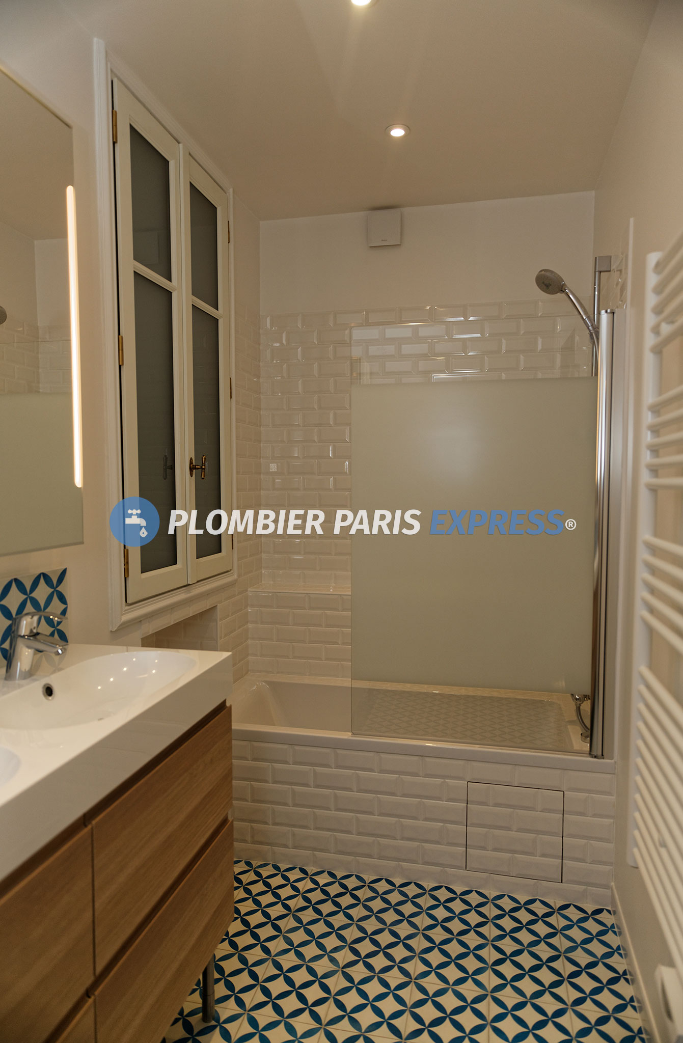 R novation salle de bain paris plombier paris express for Salle de bain paris